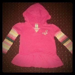 Gymboree pink hood top size 3
